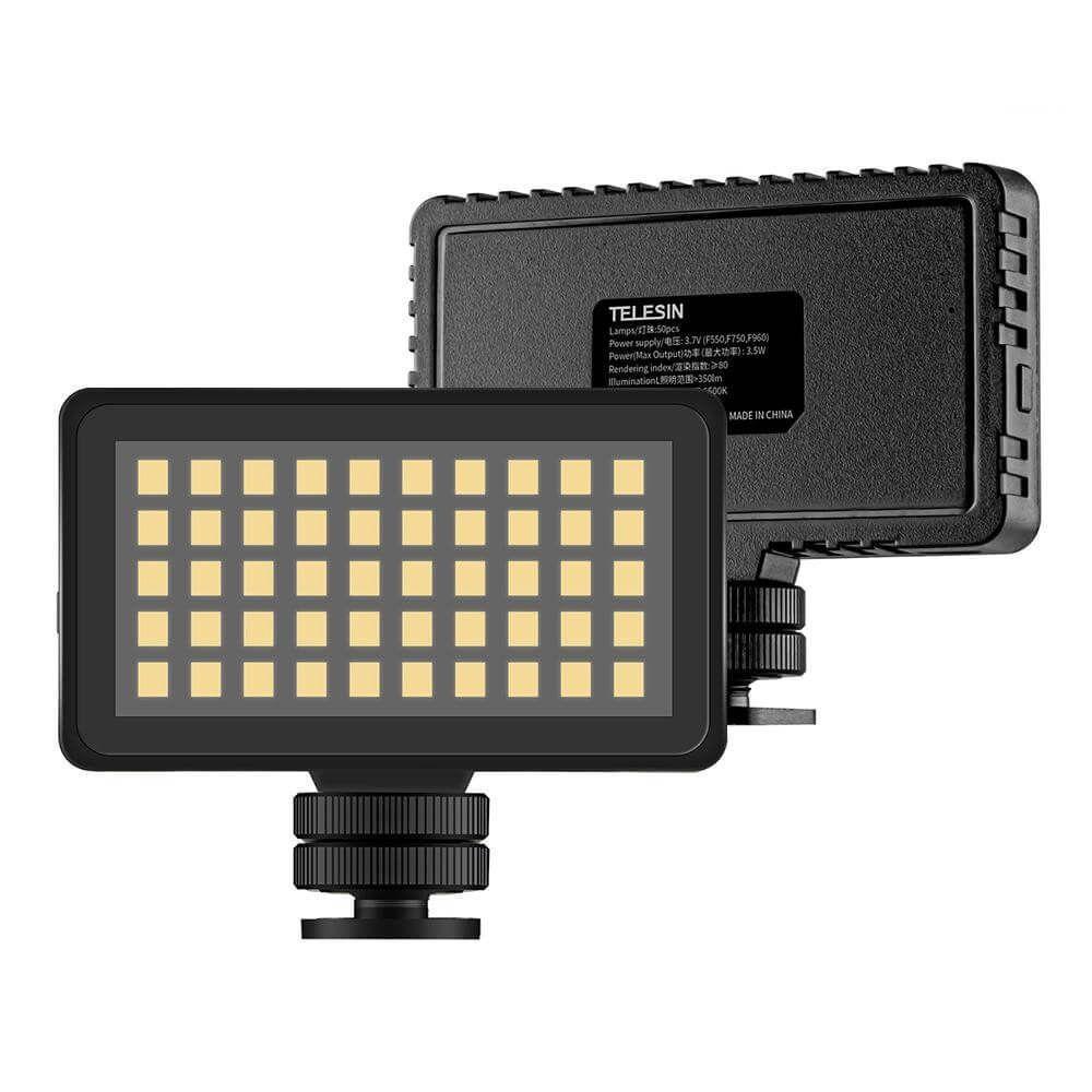 Mini Iluminador de LED da Telesin para Câmeras GoPro e DSLR