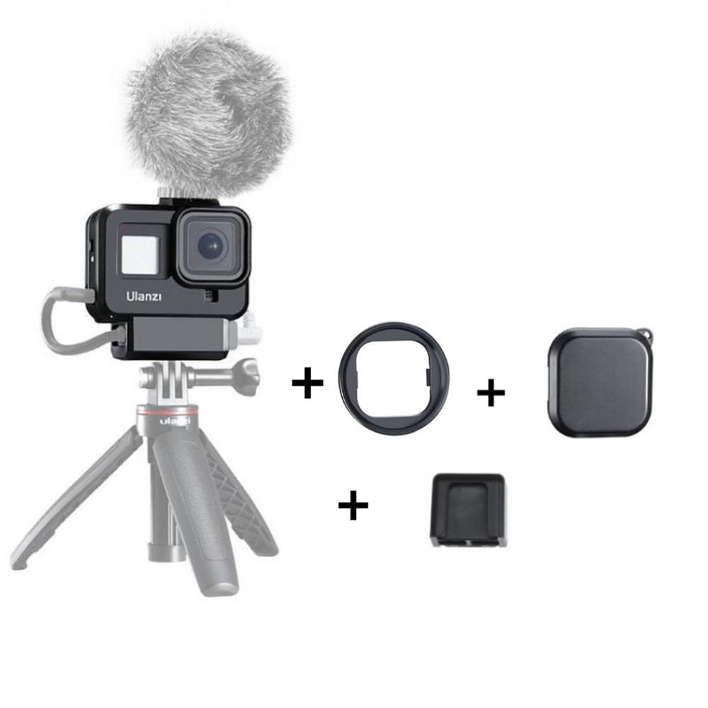 Moldura Frame com Encaixe de Microfone Externo Para GoPro Hero 8 - Ulanzi