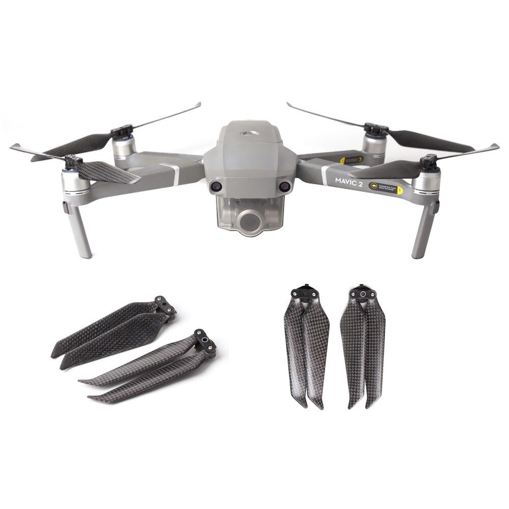 Par de Hélices dobráveis em fibra de carbono para Drone DJI Mavic 2 Pro / Zoom