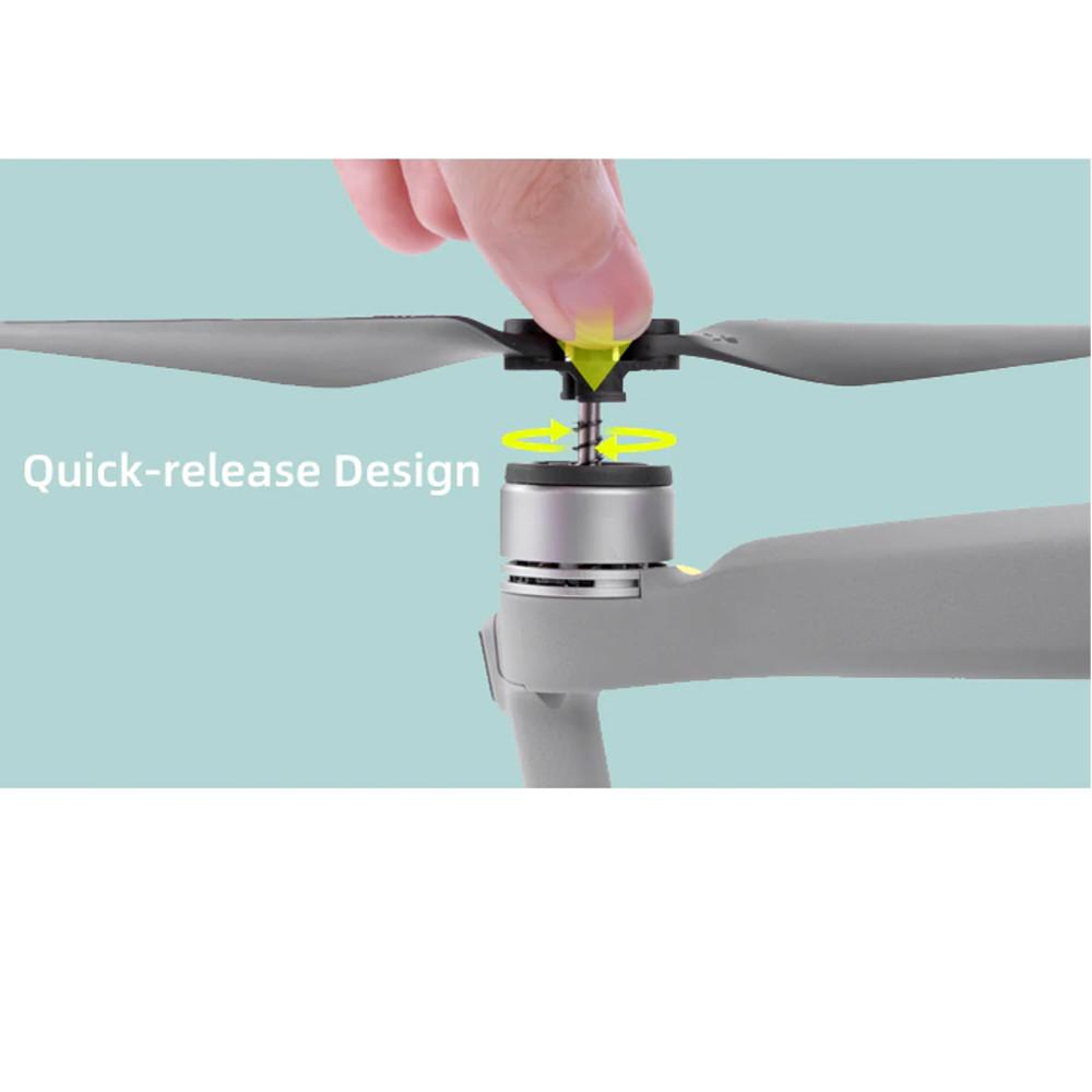 Par de Hélices para Drone DJI Mavic Air 2 - cinza