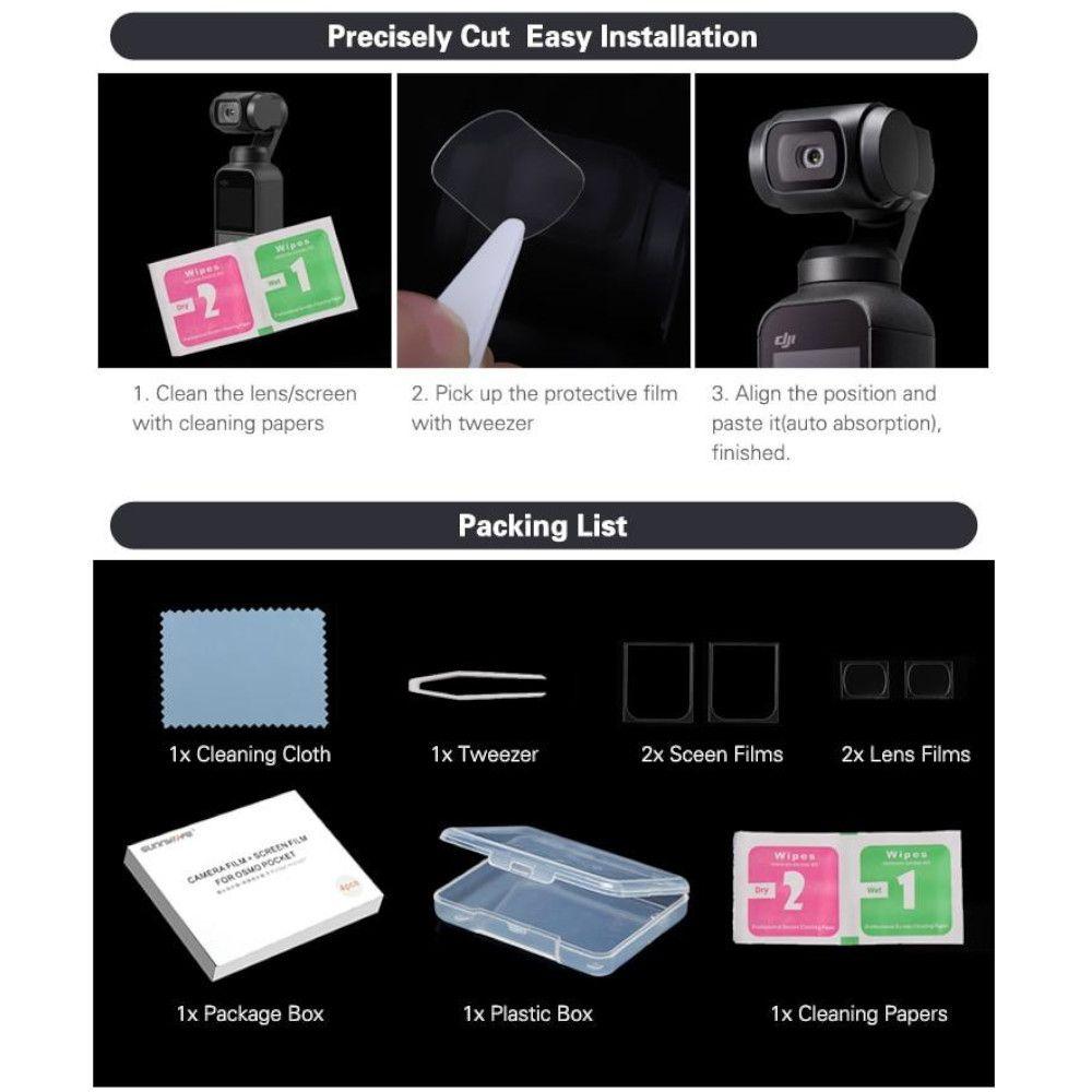Película de vidro para Lente e LCD Dji Osmo Pocket