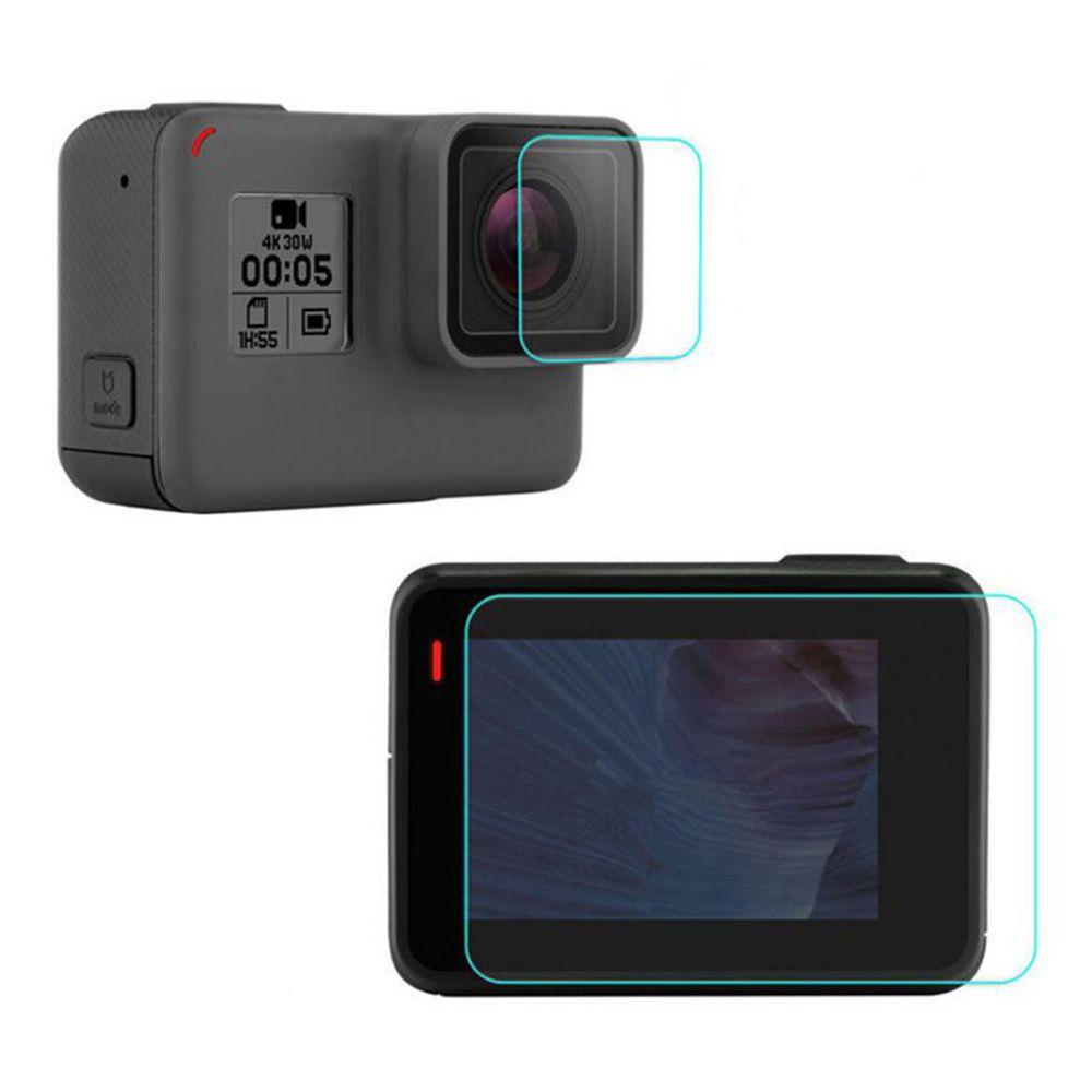 Películas de Vidro para Lente e LCD GoPro Hero 5, 6, 7 Black