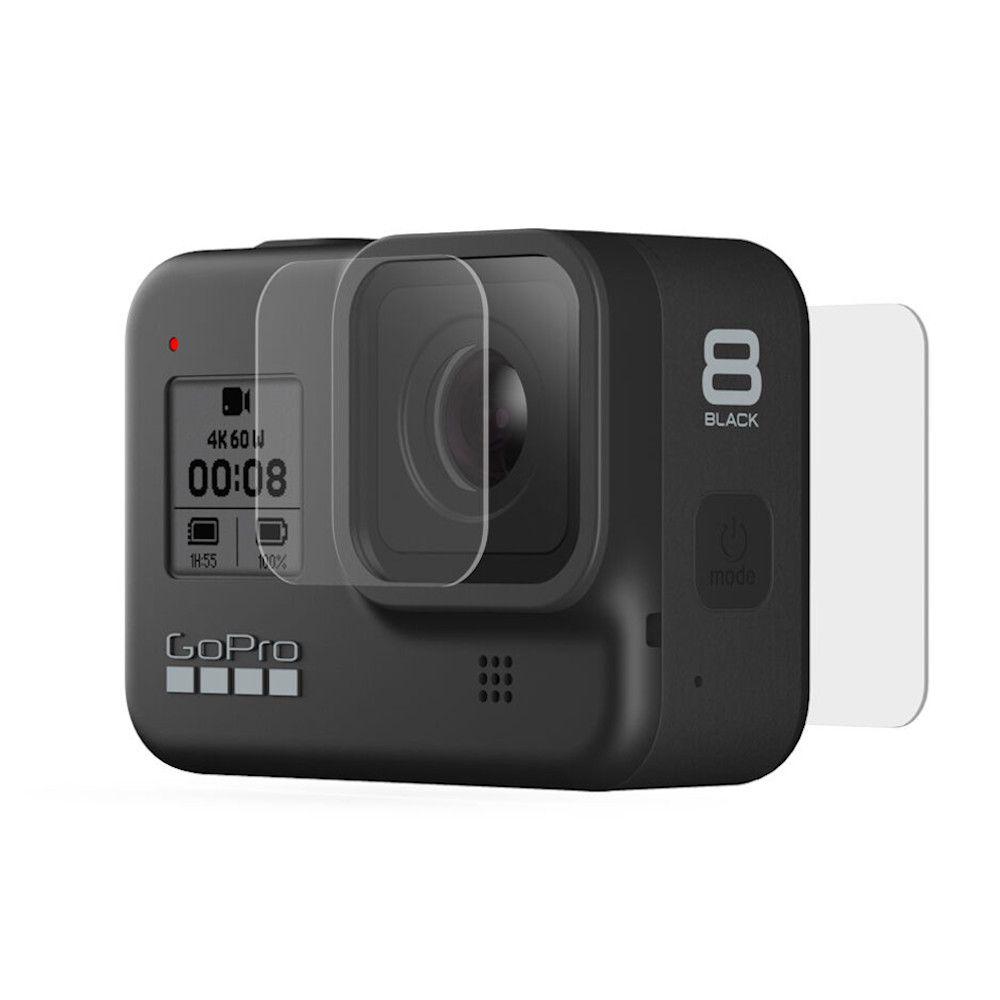 Películas de Vidro para Lente e LCD Traseiro GoPro Hero 8 Black