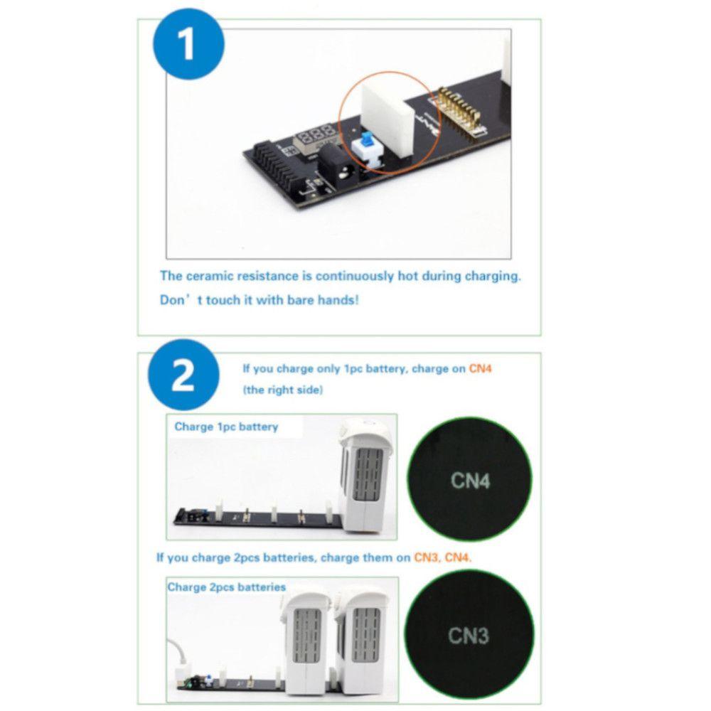 Placa Carregador Inteligente de Bateria para Drone Dji Phantom 4 / Pro / Pro+