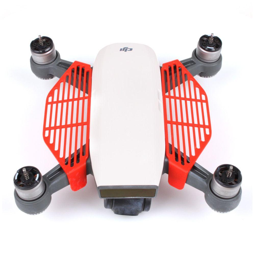 Protetor de dedos Vermelho para decolagem e pouso nas mãos - Drone DJI Spark