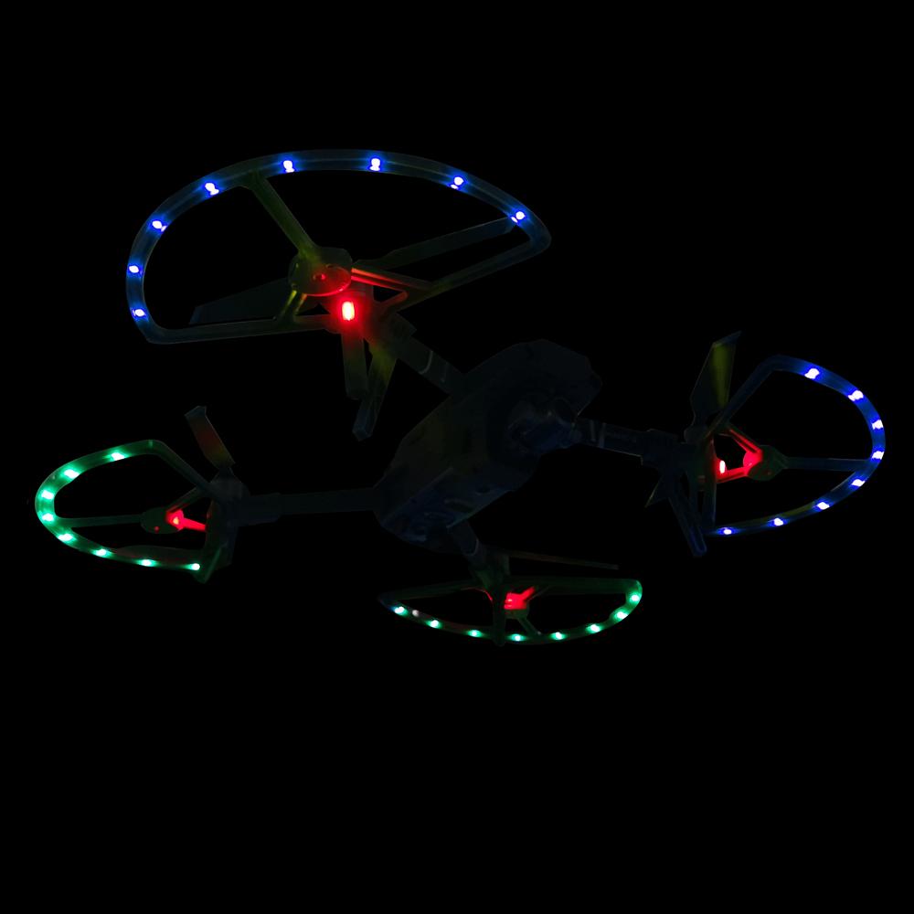 Protetor de hélice com luz LED e de trem de pouso para Drone DJI Mavic2 Pro / Zoom