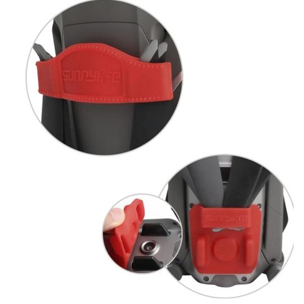 Protetor e Trava de Hélices para Drone DJI Mavic 2 Pro e Zoom - Vermelho