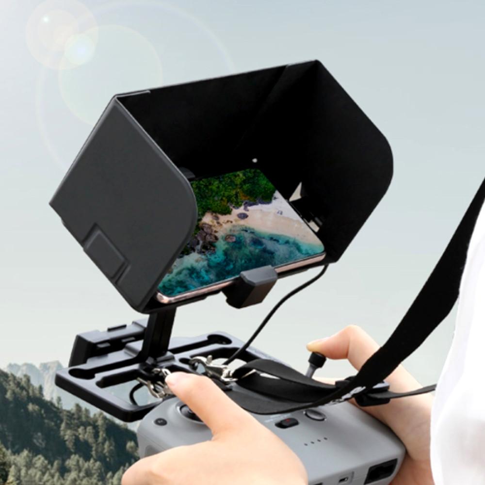 Suporte de celular para controle remoto de drone DJI com proteção solar