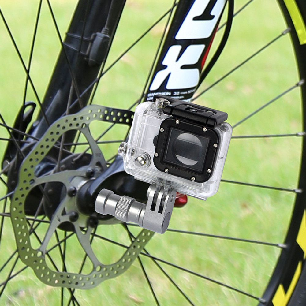 Suporte adaptador em alumínio para GoPro SJCam em roda de bike