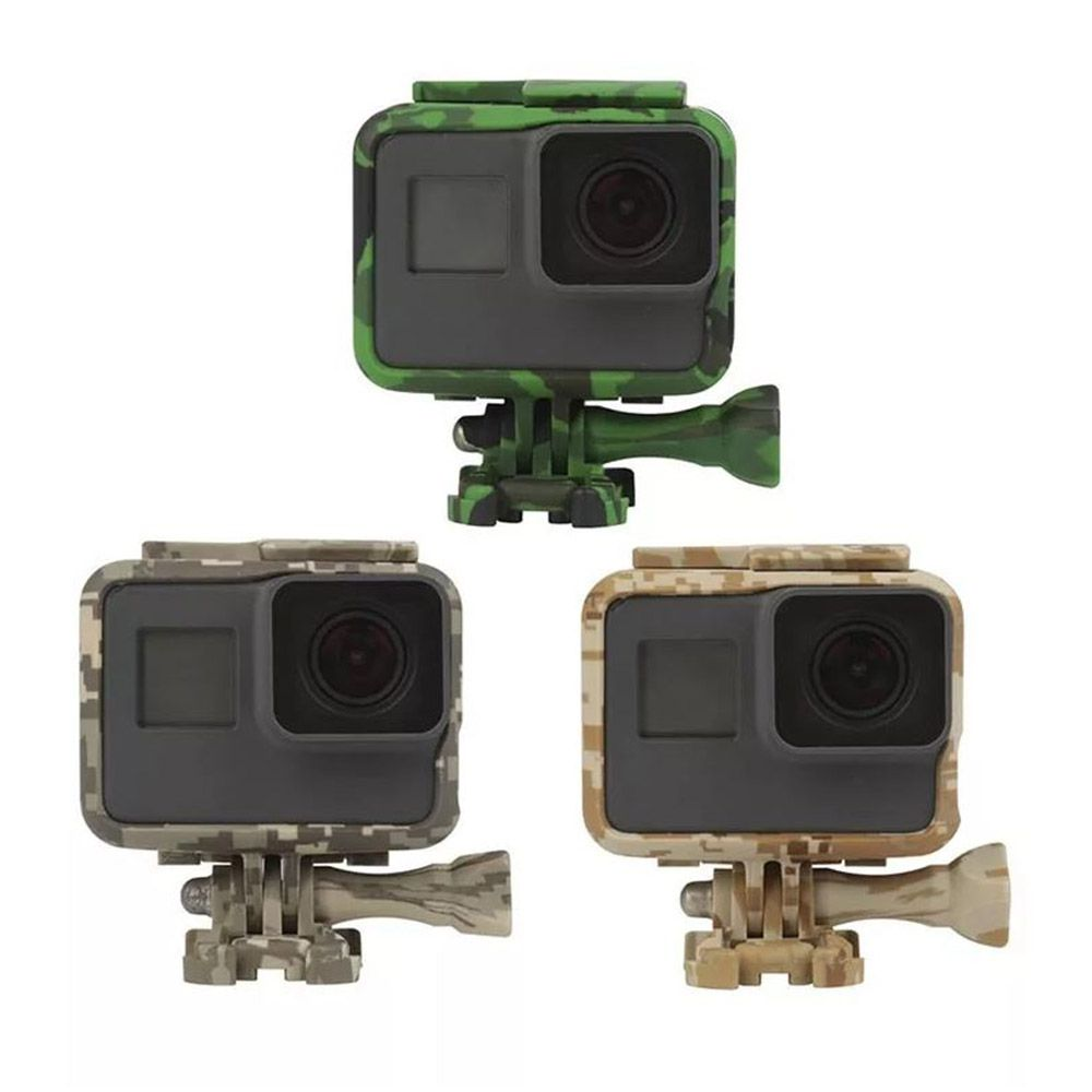 Suporte Armação Moldura Frame Camuflado Cinza GoPro Hero 5/6/7