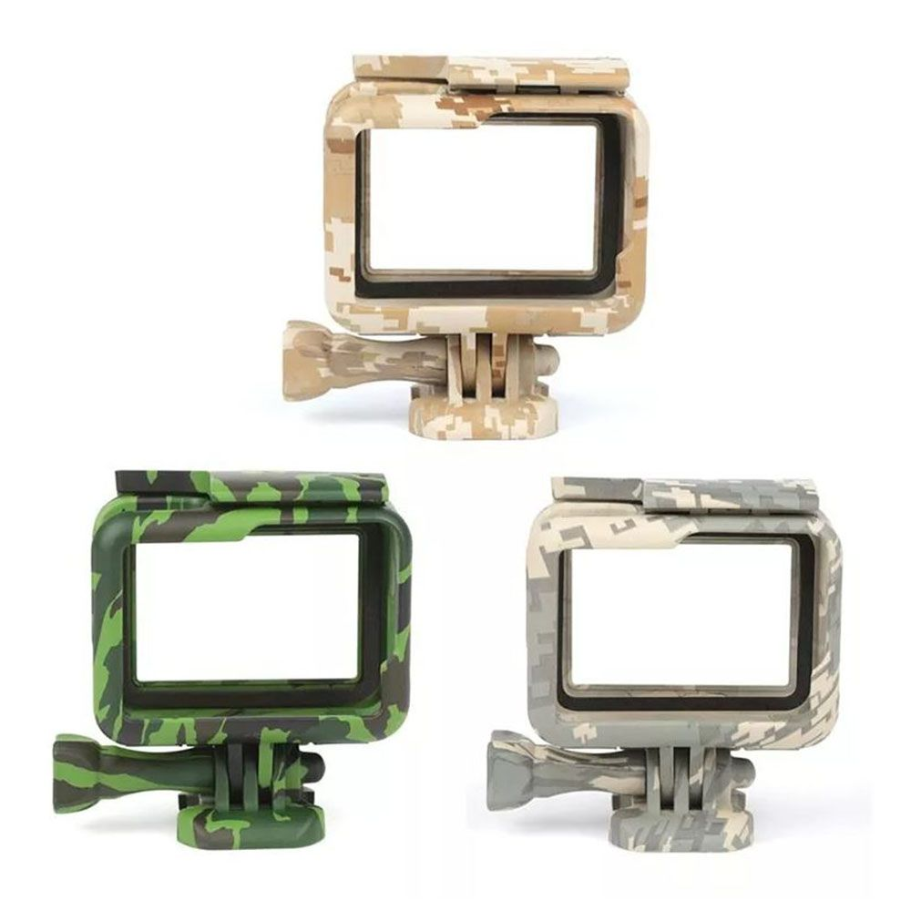 Suporte Armação Moldura Frame Camuflado Verde GoPro Hero 5/6/7