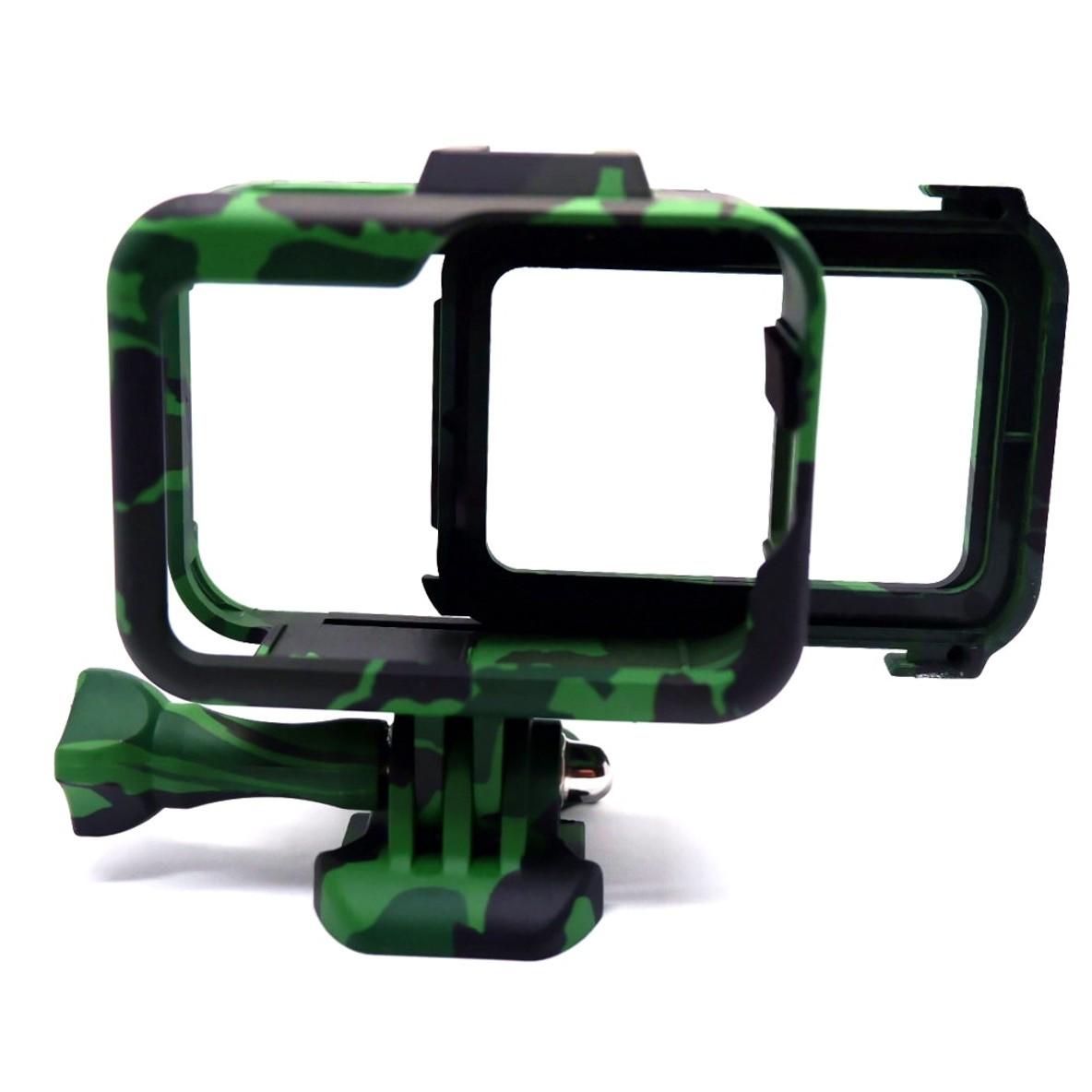 Suporte Armação Moldura Frame Camuflado Verde GoPro Hero 8