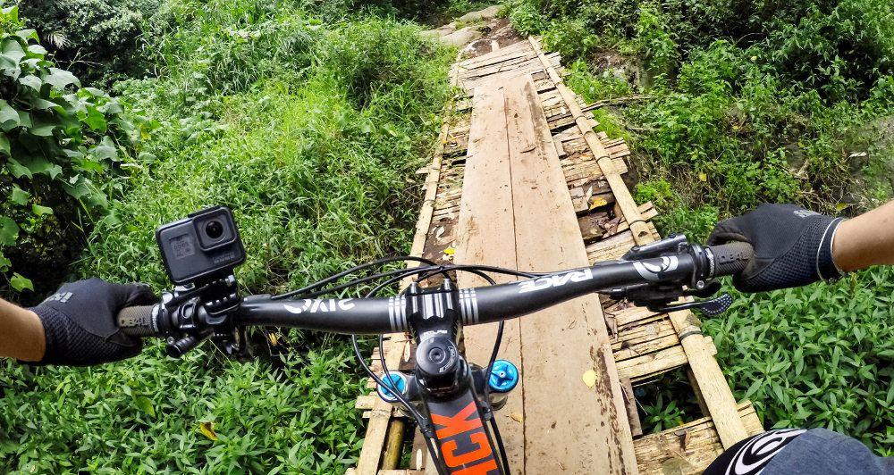 Suporte Barra Guidão Bicicleta Bike 360º Original para GoPro SJCAM