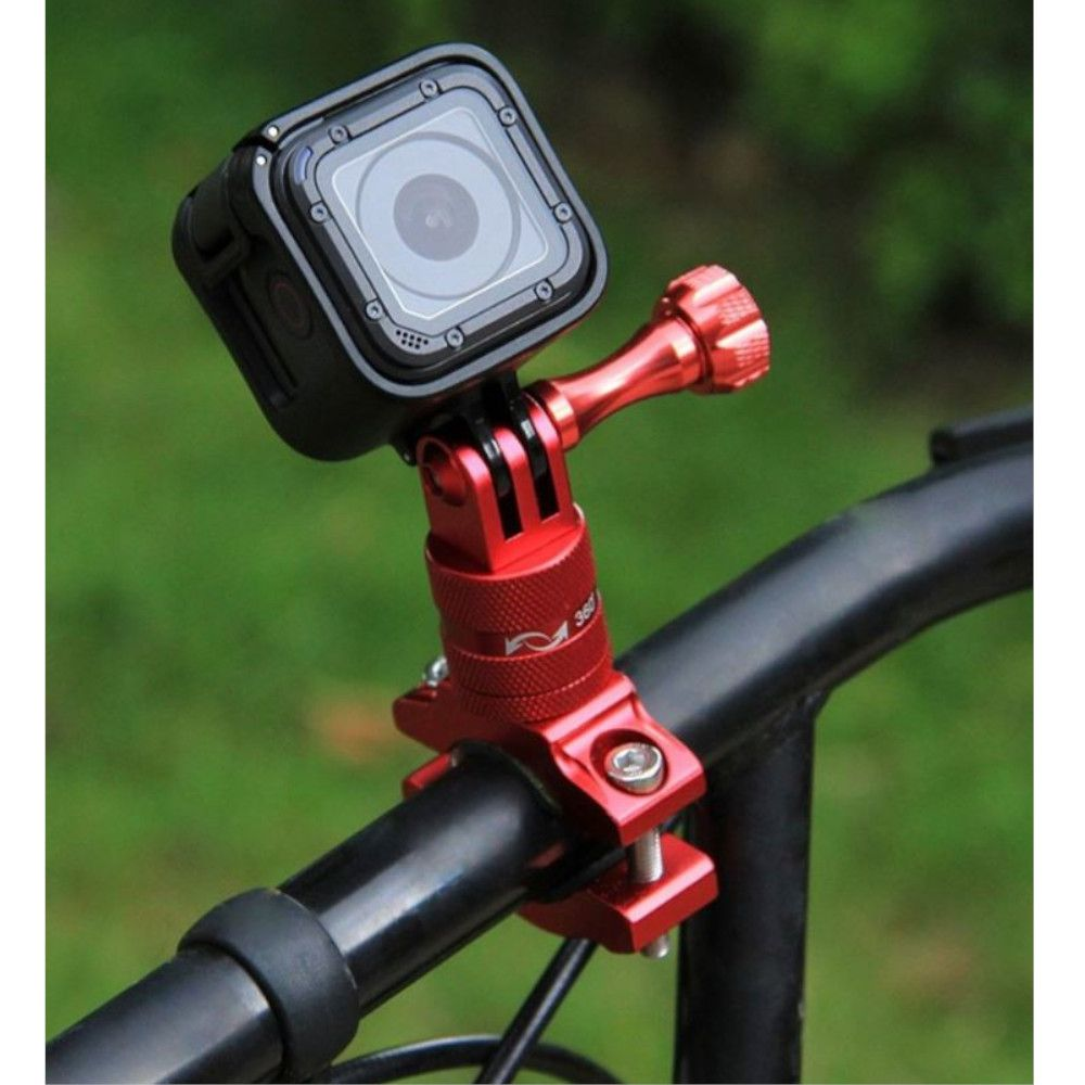 Suporte Bike/Moto/Cilindro em Alumínio 360 graus para GoPro SJCam - Vermelho