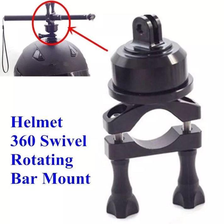 Suporte Giratório Helmet 360 Graus Bastão Capacete Gopro 2-6