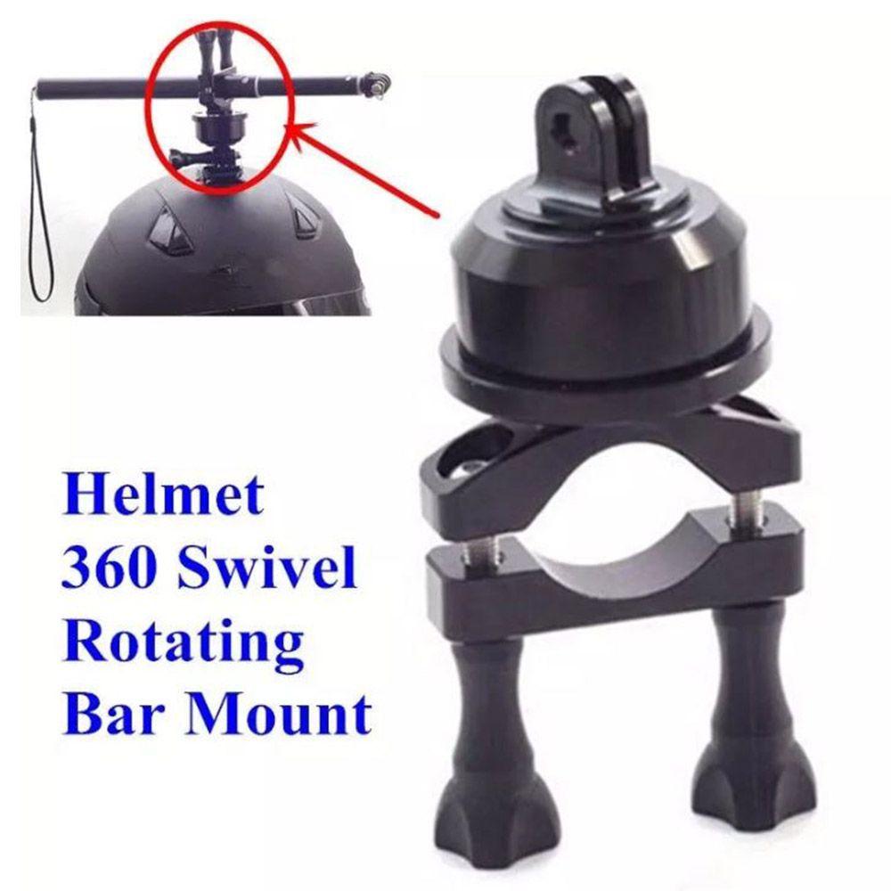 Suporte Giratório Helmet 360 Graus Bastão Capacete Gopro