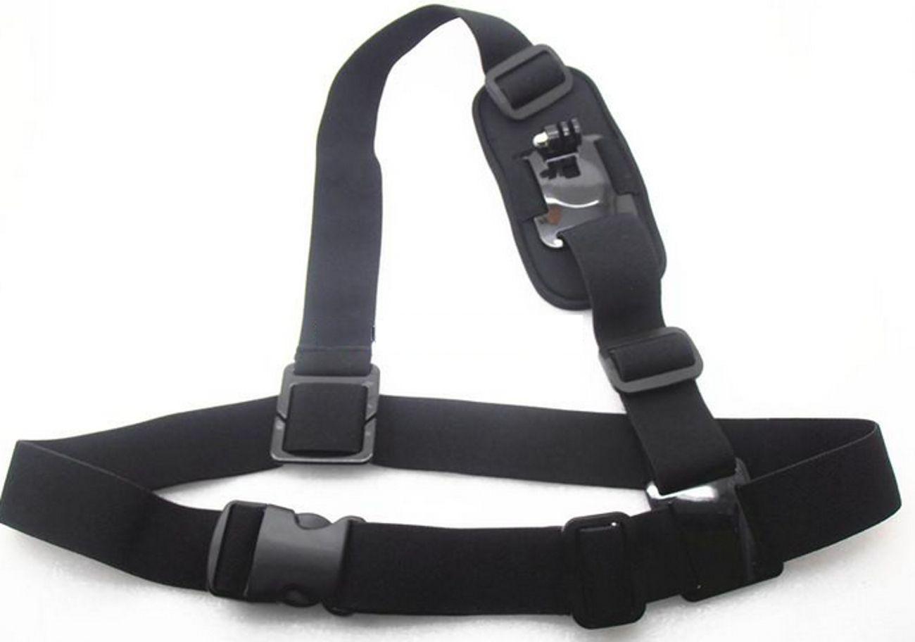 Suporte Ombro Shoulder Mount Harness para Câmeras de Ação GoPro Hero SJCam Xiaomi