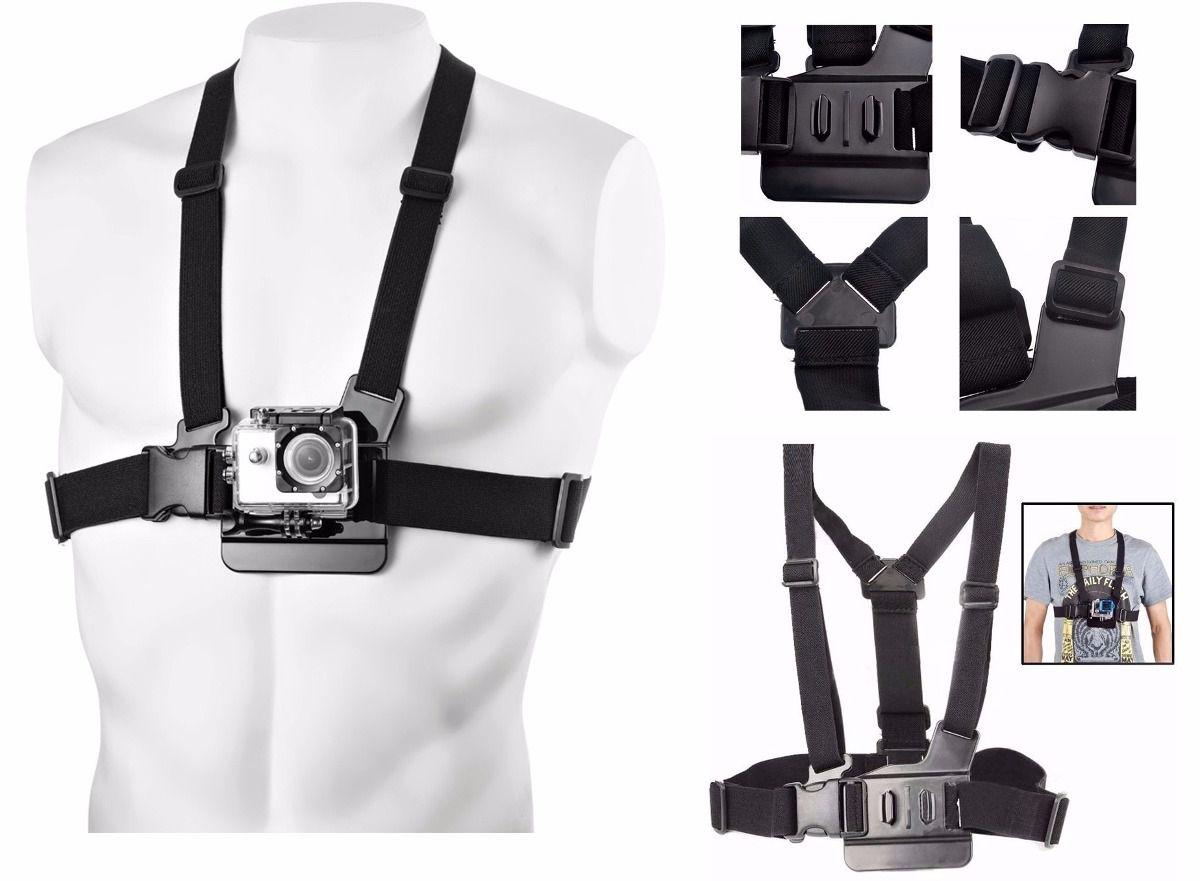 Suporte Peito Chest Mount Harness para Câmeras de Ação GoPro Hero SJCam Xiaomi
