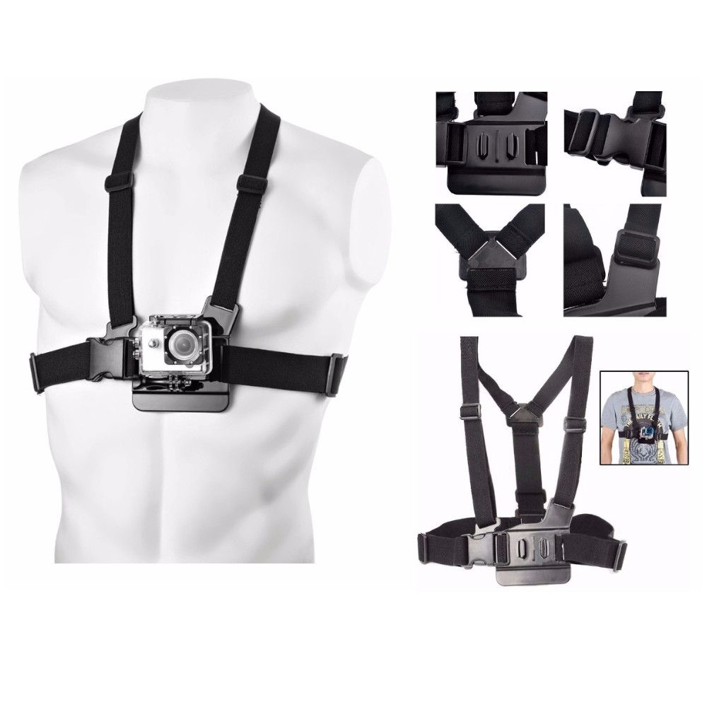 Suporte Peito Chest Mount Harness para GoPro Hero e SJCam