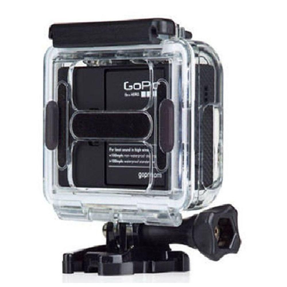 Tampa Traseira Aberta Case para Câmeras GoPro Hero 3+, 4