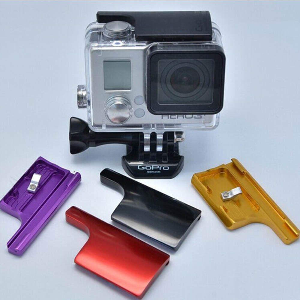 Trava Segurança em Alumínio Preta Para GoPro Hero 3+/4