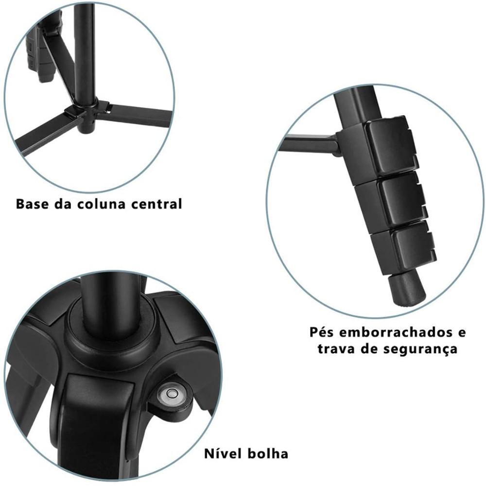 Tripé Greika Nest Nt-510 1,36mts- Máx 2,5Kg + Adap. Cel. e GoPro