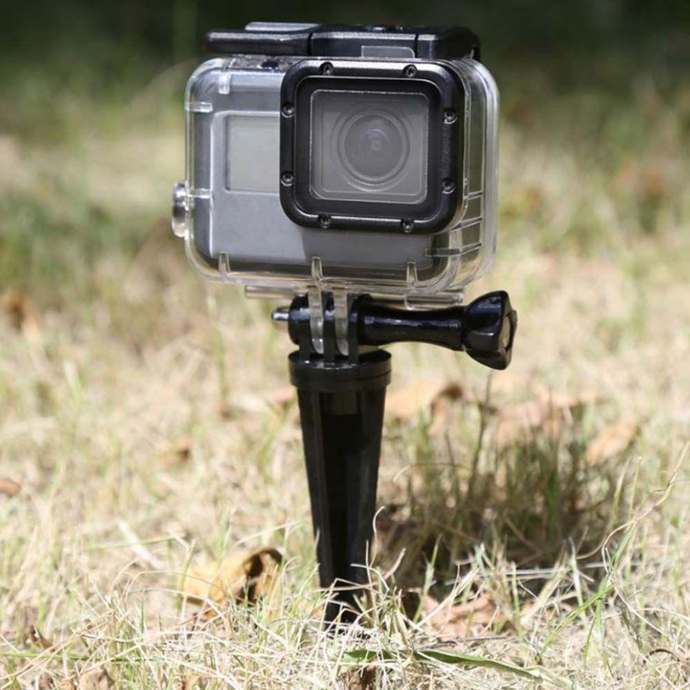Tripé Pino fixador em areia grama para câmeras GoPro e SjCam