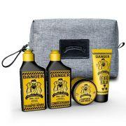 2 Kit Viagem - Shampoo, Condicionador, Pomada e Balm - Barba Forte