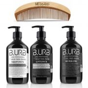 Kit - 2 Balm e Gel Shave Burbank - 500 ml cada e Pente -  Barba Urbana