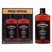 Kit - 2 Shampoo Cabelo e Barba Old School Whiskey - QOD Barber Shop