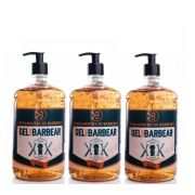 Kit - 3 Gel de Barbear - Shave Cream - 3 kg - Ferramentas de Barbeiros