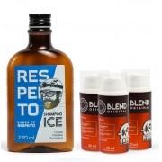 Kit 3 Meses de Tratamento - Crescimento da Barba - Shampoo Ice + Blend - Barba de Respeito