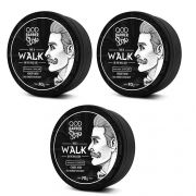 Kit - 3 Pomada Modeladora Capilar Walk -  QOD Barber Shop