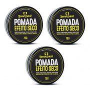 Kit - 3 Pomada Para Cabelo - Efeito Seco - Beard Brasil