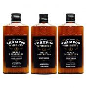 Kit - 3 Shampoo Cabelo e Barba Old School Whiskey - QOD Barber Shop
