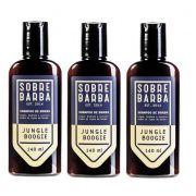 Kit - 3 Shampoo de Barba Jungle Boogie 140ml -  Sobrebarba