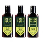 Kit - 3 - Shampoo de Barba Lemon Drop 140ml -  Sobrebarba