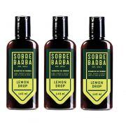 Kit - 3 - Shampoo de Barba Lemon Drop 140ml -  Sobrebarba