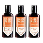 Kit - 3 Shampoo de Barba Light My Fire 140ml -  Sobrebarba
