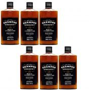 Kit - 6 Shampoo Cabelo e Barba Old School Whiskey - QOD Barber Shop