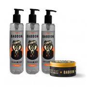 Kit Baboon - 3 Grooming + Pomada Matte Clay - Baboon