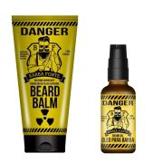 Kit - Balm e  Óleo Para Barba - Danger - Barba Forte