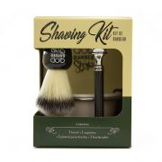 Kit de Barbear Old School Bowl, Pincel de Barba e Barbeador - QOD Barber Shop