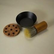 Kit de Barbear - Pincel de Barba, Saboeira e Apoio - Netbarbas