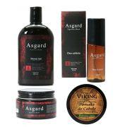 Kit - Pomada, Shower Gel e  Perfume Deo Colônia - Asgard e Pomada - Viking