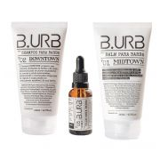 Kit Shampoo, Balm e Óleo Para Barba - White - Barba Urbana