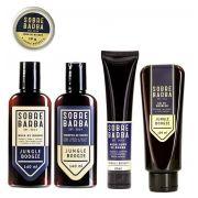 Kit - Shampoo, Balm, Modelador, Cera e Gel - Jungle Boogie - Sobrebarba
