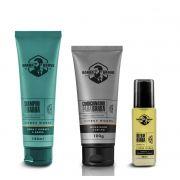Kit - Shampoo, Condicionador e Óleo Para Barba - Citrus Woods - Barba Brava
