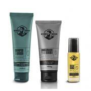 Kit - Shampoo, Condicionador e Óleo Para Barba - Coffe Blend - Barba Brava