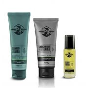 Kit - Shampoo, Condicionador e Óleo Para Barba - Fresh Woods - Barba Brava